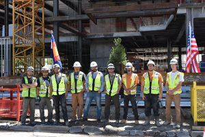 Encore Electric Team Shares in Topping Out Ceremony at Civica in