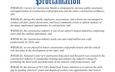 October 2018 is Colorado Construction Careers Month